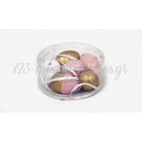 Κρεμαστα Πασχαλινα Αυγα 4Cm Σετ/6 - ΚΩΔ:621184