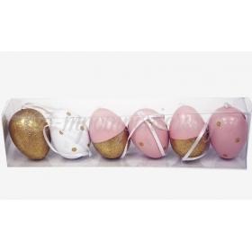 Κρεμαστα Πασχαλινα Αυγα 6Cm Σετ/6 - ΚΩΔ:621185