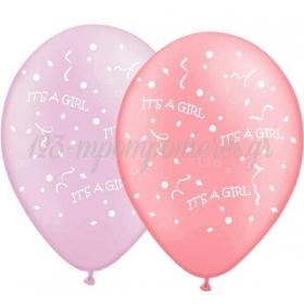 ΜΠΑΛΟΝΙΑ «It's a girl» ΣΕ 2 ΑΠΟΧΡΩΣΕΙΣ ΤΟΥ ΡΟΖ 12'' (30cm) – ΚΩΔ.:13512419-BB