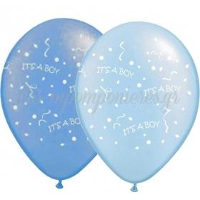 ΜΠΛΕ-ΓΑΛΑΖΙΑ ΜΠΑΛΟΝΙΑ «It's a boy» 12'' (30cm) – ΚΩΔ.:13512421-BB