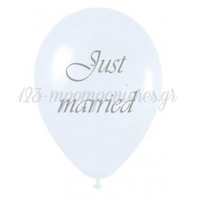 ΤΥΠΩΜΕΝΟ ΖΑΧΑΡΙ JUST MARRIED ΜΠΑΛΟΝΙ LATEX 12΄΄ (30cm) – ΚΩΔ.:13513205-BB