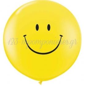 ΚΙΤΡΙΝΑ ΜΠΑΛΟΝΙΑ LATEX 90cm SMILE FACE – ΚΩΔ.:13530101C-BB