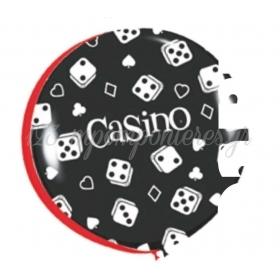 ΜΑΥΡΑ ΜΠΑΛΟΝΙΑ LATEX 90cm «Casino» ΜΕ ΖΑΡΙΑ – ΚΩΔ.:1353056268-BB