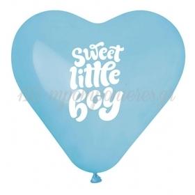 ΓΑΛΑΖΙΑ ΜΠΑΛΟΝΙΑ ΣΕ ΣΧΗΜΑ ΚΑΡΔΙΑΣ «Sweet Little Boy» 17'' (43cm) – ΚΩΔ.:1361772-BB