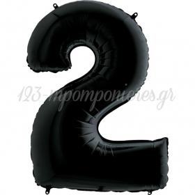 Μπαλονι Foil Μαυρος 66Cm Αριθμος Δυο – ΚΩΔ.:260042K-Bb