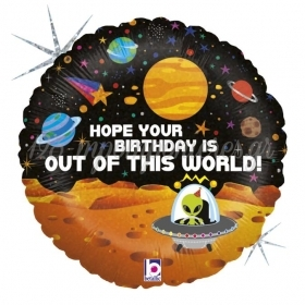 ΜΠΑΛΟΝΙ FOIL ΓΕΝΕΘΛΙΩΝ HAPPY BIRTHDAY ΜΕ ΔΙΑΣΤΗΜΑ 45cm – ΚΩΔ.:36022-BB