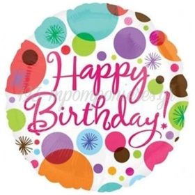 ΜΠΑΛΟΝΙ FOIL ΓΕΝΕΘΛΙΩΝ «Happy Birthday» ΠΟΥΑ 45cm – ΚΩΔ.:518162-BB