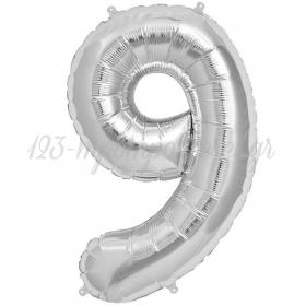 Μπαλονι Foil Ασημι 100Cm Αριθμος Εννεα – ΚΩΔ.:526Ng9-Bb