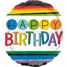 ΜΠΑΛΟΝΙ FOIL ΓΕΝΕΘΛΙΩΝ «Happy Birthday» ΜΕ ΟΥΡΑΝΙΟ ΤΟΞΟ 45cm – ΚΩΔ.:534429-BB