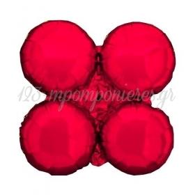 """Κοκκινο Μπαλονι Foil Για Γιρλαντα 16"""" (40Cm) – ΚΩΔ.:206102-Bb"""