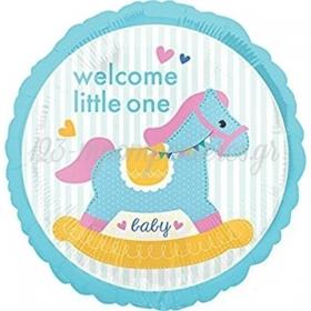 ΜΠΑΛΟΝΙ FOIL 45cm ΓΙΑ ΓΕΝΝΗΣΗ «Welcome Little One» – ΚΩΔ.:534459-BB