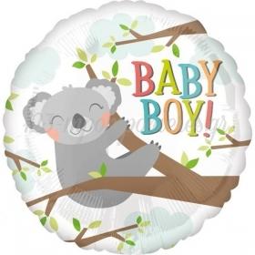 ΜΠΑΛΟΝΙ FOIL 45cm ΓΙΑ ΓΕΝΝΗΣΗ «Baby Boy» ΚΟΑΛΑ – ΚΩΔ.:535602-BB
