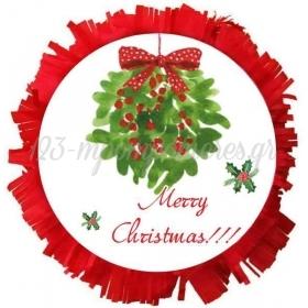 ΧΕΙΡΟΠΟΙΗΤΗ ΠΙΝΙΑΤΑ ''MERRY CHRISTMAS'' 40X40CM - ΚΩΔ:553153-4-BB