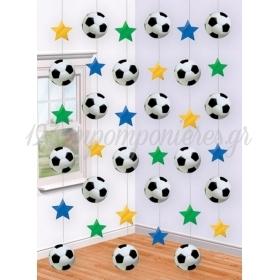 Διακοσμητικη Κουρτινα Ποδοσφαιρο 6 Τεμ. - ΚΩΔ:679877-Bb