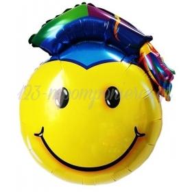 ΜΠΑΛΟΝΙ FOIL 80x86cm ΓΙΑ ΑΠΟΦΟΙΤΗΣΗ SUPER SHAPE GRADUATION SMILE FACE – ΚΩΔ.:206277-BB