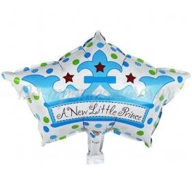 ΜΠΑΛΟΝΙ FOIL 44x68cm ΓΙΑ ΓΕΝΝΗΣΗ SUPERSHAPE «A New Little Prince» ΜΠΛΕ ΚΟΡΩΝΑ – ΚΩΔ.:206287-BB