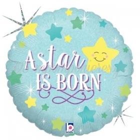 ΜΠΑΛΟΝΙ ΙΡΙΔΙΖΟΝ FOIL 45cm «A Star Is Born» BOY – ΚΩΔ.:36291-BB