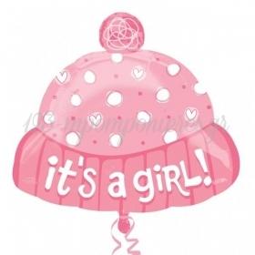 ΜΠΑΛΟΝΙ FOIL 45cm ΓΙΑ ΓΕΝΝΗΣΗ SUPERSHAPE «It's a Girl» ΣΚΟΥΦΑΚΙ – ΚΩΔ.:521984-BB