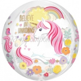 ΜΠΑΛΟΝΙ FOIL BELIEVE IN UNICORNS ORBZ 38cm – ΚΩΔ.:537276-BB