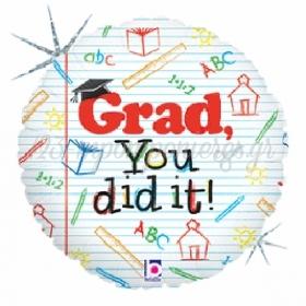 ΜΠΑΛΟΝΙ FOIL 45cm ΓΙΑ ΑΠΟΦΟΙΤΗΣΗ Grad, You Did It – ΚΩΔ.:86970-BB