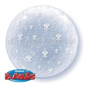 """ΜΠΑΛΟΝΙ FOIL 20""""(50cm) FLOWERS ALL AROUND DECO Bubble – ΚΩΔ.:12112-BB"""