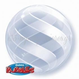 """ΜΠΑΛΟΝΙ FOIL 20""""(50cm) SWIRLS ALL AROUND DECO Bubble – ΚΩΔ.:15574-BB"""
