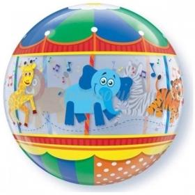 """ΜΠΑΛΟΝΙ FOIL 22""""(56cm) CAROUSSEL Bubble ΜΟΝΟ – ΚΩΔ.:15926-BB"""