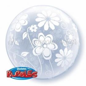 """ΜΠΑΛΟΝΙ FOIL 20""""(50cm) ΦΛΟΡΑΛ ΣΧΕΔΙΑ ALL AROUND DECO Bubble – ΚΩΔ.:16874-BB"""