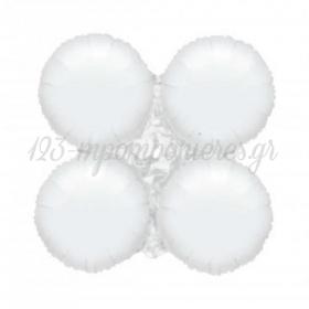 """Ασπρο Μπαλονι Foil Για Γιρλαντα 16"""" (40Cm) – ΚΩΔ.:206099-Bb"""