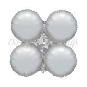 """Ασημι Μπαλονι Foil Για Γιρλαντα 16"""" (40Cm) – ΚΩΔ.:206107-Bb"""