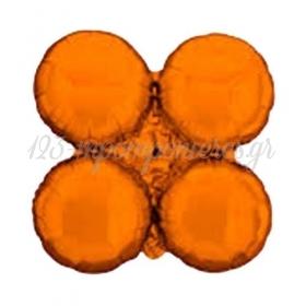 """Πορτοκαλι Μπαλονι Foil Για Γιρλαντα 16"""" (40Cm) – ΚΩΔ.:206110-Bb"""