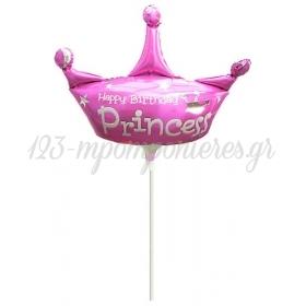 ΜΠΑΛΟΝΙ FOIL MINI SHAPE (38x42cm) «Happy Birthday Princess»– ΚΩΔ.:207159-BB