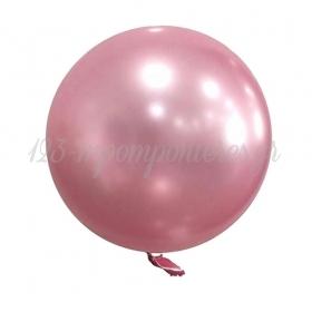 """ΜΠΑΛΟΝΙ FOIL 18""""(45cm) ΡΟΖ Bubble Chrome – ΚΩΔ.:207191-BB"""