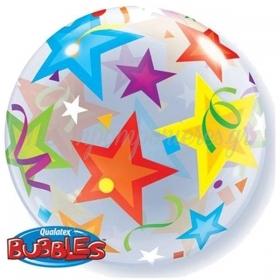 """ΜΠΑΛΟΝΙ FOIL 22""""(56cm) ΑΣΤΕΡΙΑ Bubble ΜΟΝΟ – ΚΩΔ.:23594-BB"""