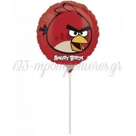 ΜΠΑΛΟΝΙ FOIL MINI SHAPE 9''(23cm) ΚΟΚΚΙΝΟ ANGRY BIRD – ΚΩΔ.:25771-BB