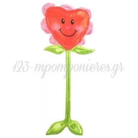 Μπαλονι Foil Airwalkers Καρδιά Λουλούδι 147 Cm – ΚΩΔ.:508152-Bb