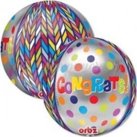 ΜΠΑΛΟΝΙ FOIL 35cm ΓΙΑ ΑΠΟΦΟΙΤΗΣΗ ORBZ «Congrats»– ΚΩΔ.:528373-BB