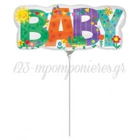 ΜΠΑΛΟΝΙ FOIL 33x13cm MINI SHAPE «Baby»– ΚΩΔ.:535609-BB