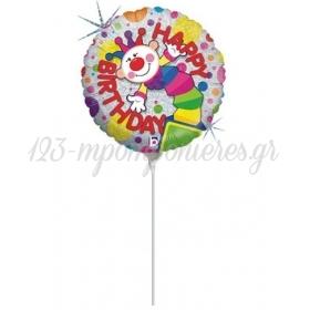 ΜΠΑΛΟΝΙ FOIL MINI SHAPE 9''(23cm) «Happy Birthday» ΜΕ ΚΛΟΟΥΝ – ΚΩΔ.:82435-BB