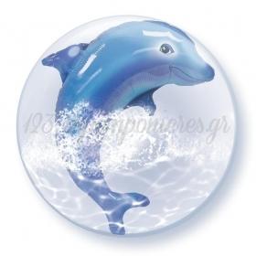 """ΜΠΑΛΟΝΙ FOIL 24""""(61cm) ΔΕΛΦΙΝΙ Bubble ΔΙΠΛΟ – ΚΩΔ.:84127-BB"""