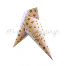ΡΟΖ ΤΗΣ ΠΟΥΔΡΑΣ ΧΩΝΑΚΙ ΖΑΧΑΡΩΤΩΝ BABY SHOWER 'TWINKLE TWINKLE LITTLE STAR' - ΚΩΔ:D1401-8-BB