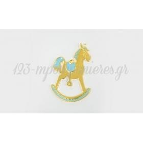 Μεταλλικο Αλογο Κουνιστο Με Σμαλτο 6X3.5Cm - ΚΩΔ:517874