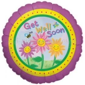 ΜΠΑΛΟΝΙ FOIL 45cm «Get Well Soon» ΜΕ ΛΟΥΛΟΥΔΙΑ – ΚΩΔ.:16940-BB