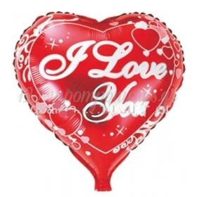 ΜΠΑΛΟΝΙ FOIL 18''(46cm)  ΚΟΚΚΙΝΗ ΚΑΡΔΙΑ 'I Love You' – ΚΩΔ.:206263-BB