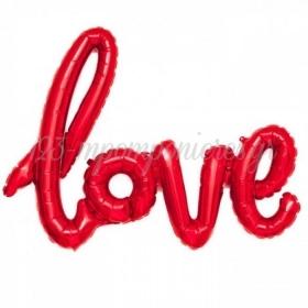 ΜΠΑΛΟΝΙ FOIL 101x67cm SUPER SHAPE «Love» ΚΟΚΚΙΝΗ ΕΝΝΩΜΕΝΗ ΦΡΑΣΗ - ΚΩΔ.:207124-BB