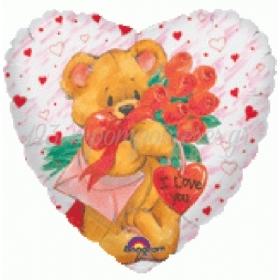 ΜΠΑΛΟΝΙ FOIL 76cm SUPER SHAPE SIMON-ELVIN «I Love You»- ΚΩΔ.:504063-BB