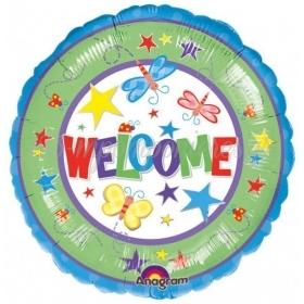 ΜΠΑΛΟΝΙ FOIL 45cm ΠΟΛΥΧΡΩΜΟ «Welcome»– ΚΩΔ.:508432-BB