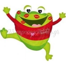 ΜΠΑΛΟΝΙ FOIL 76cm SUPER SHAPE ΒΑΤΡΑΧΟΣ «Toad_Ally Kissable» - ΚΩΔ.:518955-BB