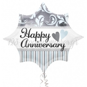 ΜΠΑΛΟΝΙ FOIL 50x43cm JUNIOR SHAPE «Happy Anniversary» - ΚΩΔ.:526816-BB