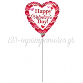 ΜΠΑΛΟΝΙ FOIL 9''(23cm) «Happy Valentine's Day»  – ΚΩΔ.:529915-BB